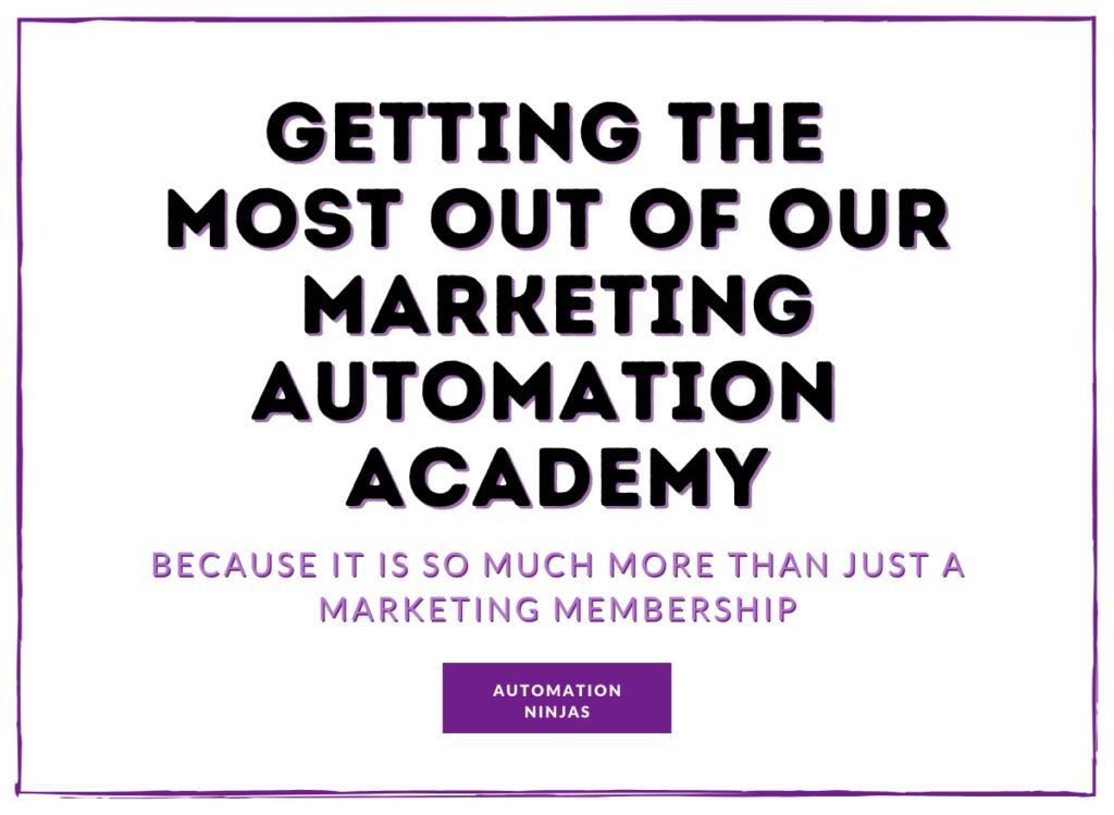 Getting the most out of our marketing automation academy