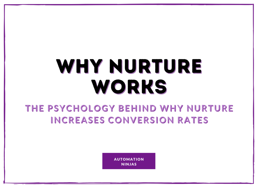 Why Nurture works - the psycology behind why nurture increases conversion rates
