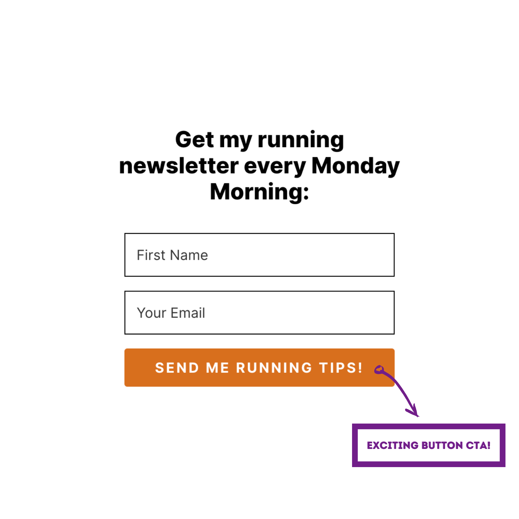 Email Newsletter Sign Up Form Example