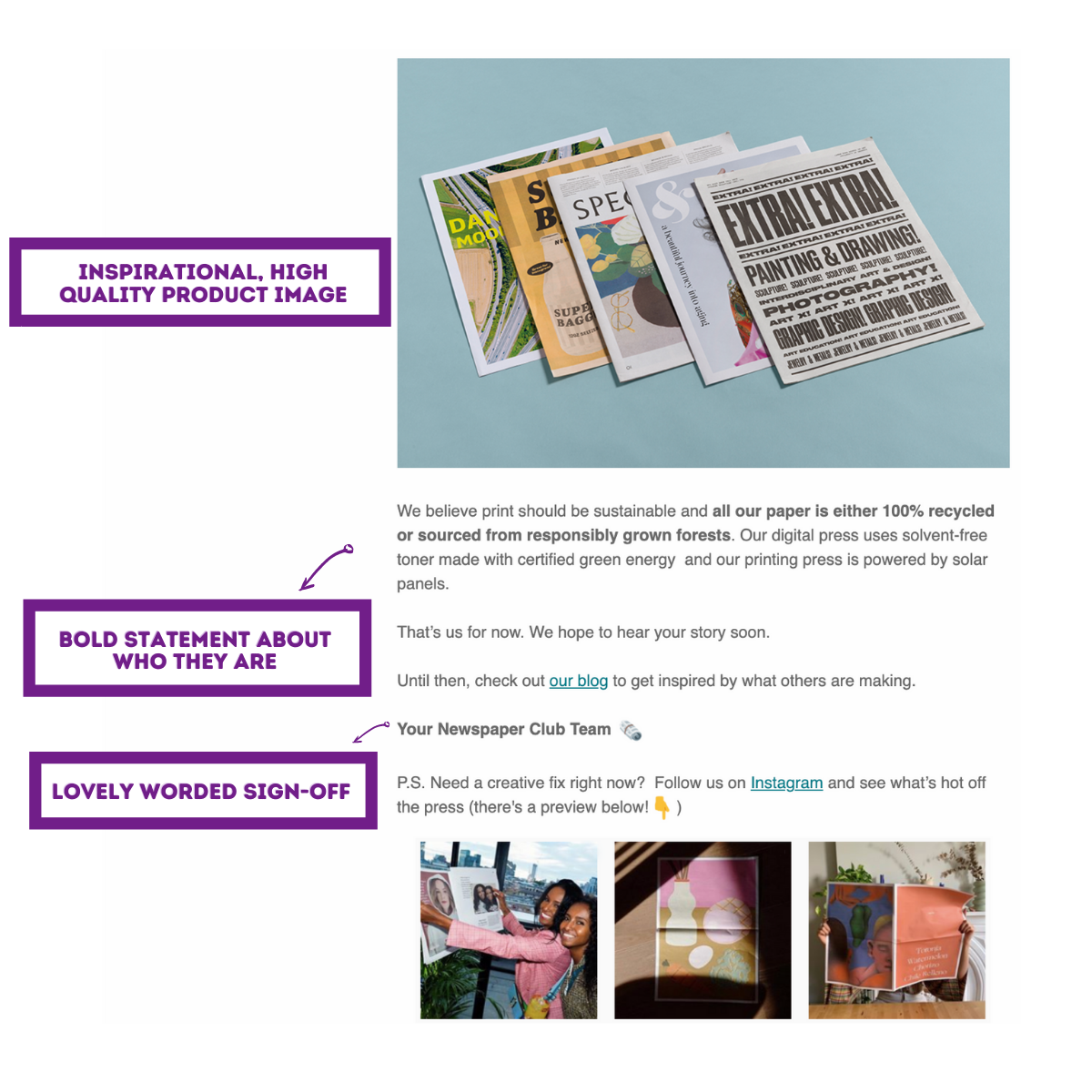 welcome email examples 13