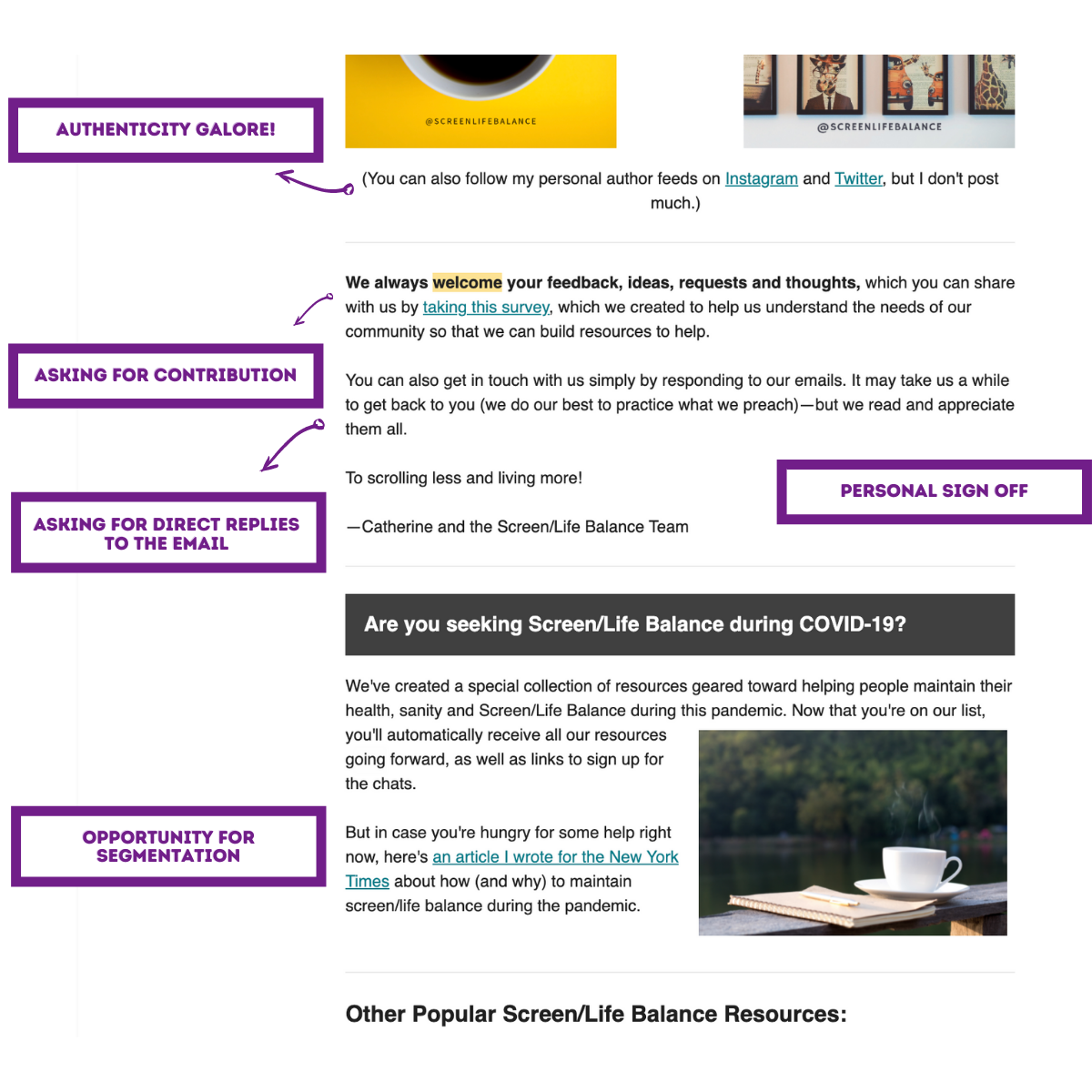 welcome email examples 8