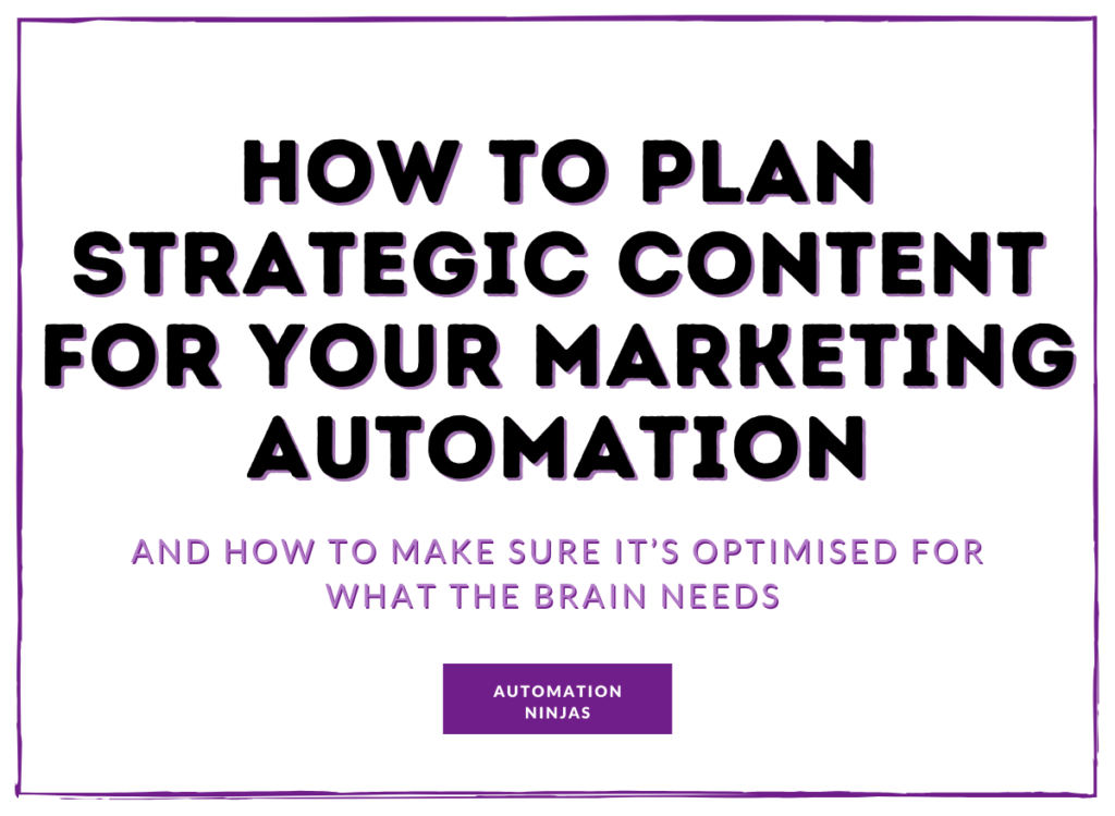 how to plan strategic content for your marketing automation