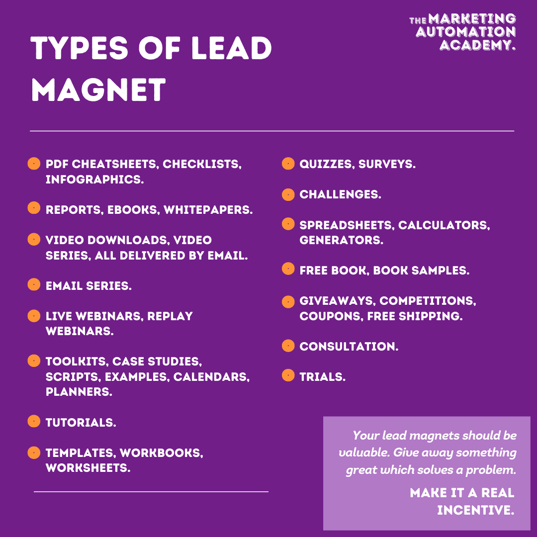 Types of lead magnet