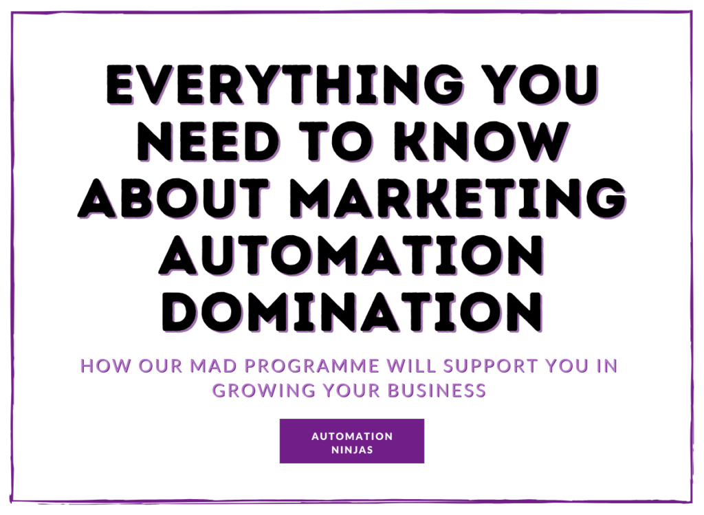 Marketing Automation Strategy & Domination - Everything you need to know