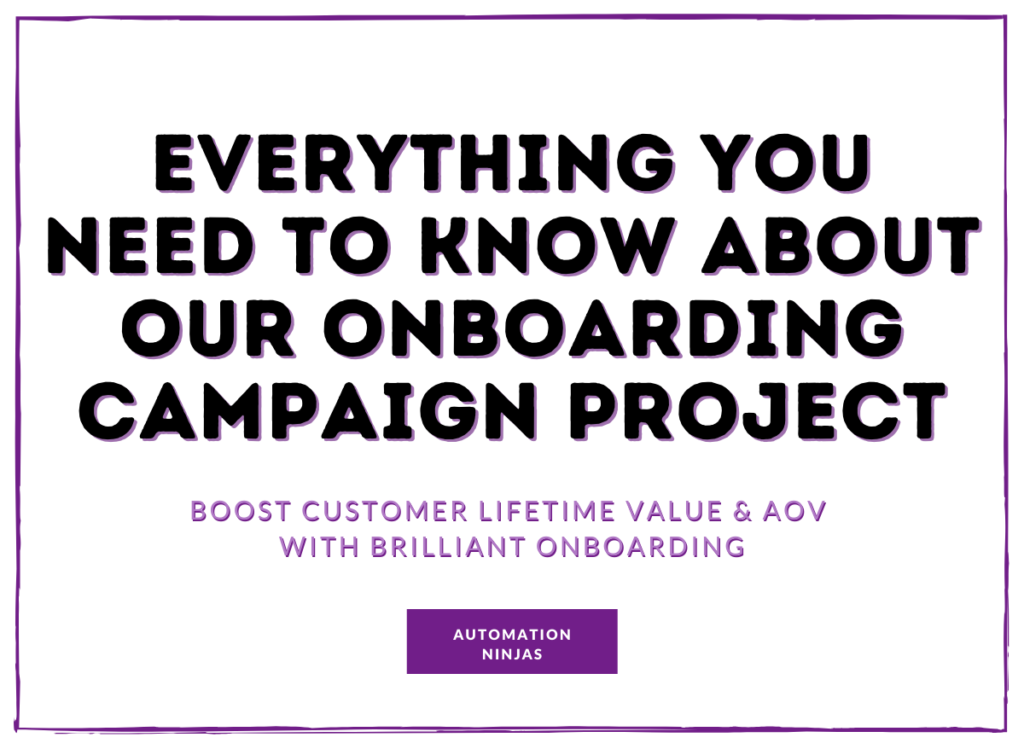 Onboarding campaign project